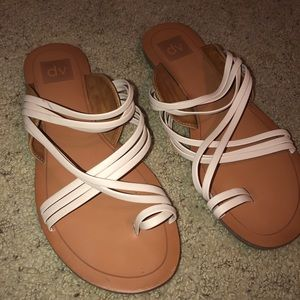 Shoes - Cute tan and cream colored women's sandals